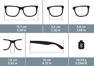 نظارات شمسية من الفئة 3 للمشي 100 - اللون رمادي