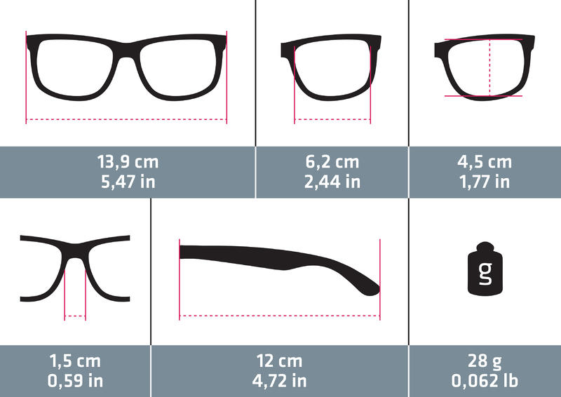 Women's Category 3 Polarising Hiking Sunglasses MH530W - Black