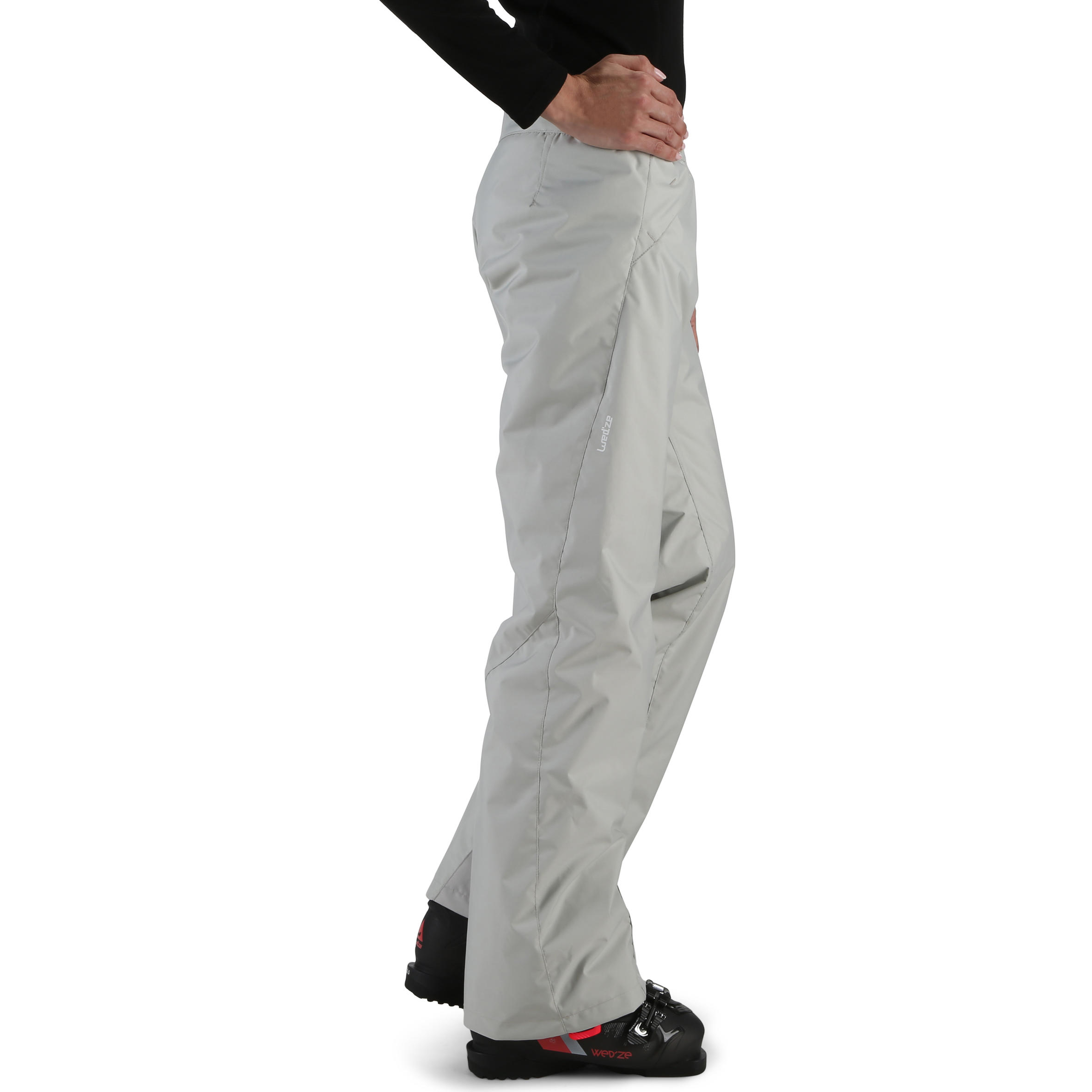 Ski-P 100 Women's Piste Skiing Trousers - Grey