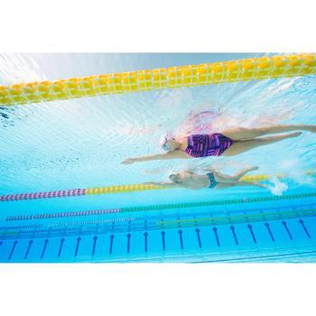 zwembril 500 Spirit maat L zwart grijs spiegelglas