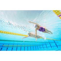 Lunettes de natation 500 SPIRIT Taille L noir gris verres miroir