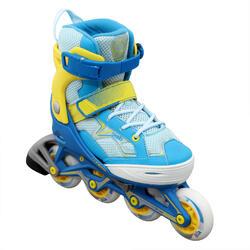 兒童直排輪Fit 3 - 藍色/黃色