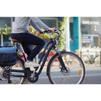 Elektrische stadsfiets Elops 900 E laag frame blauw