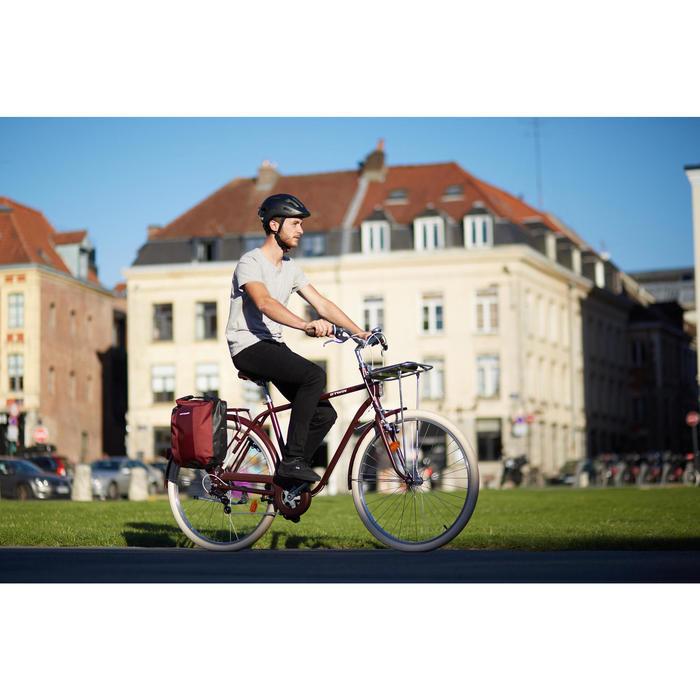 Gepäckträger-Fahrradtasche 500 20 Liter rot wasserfest