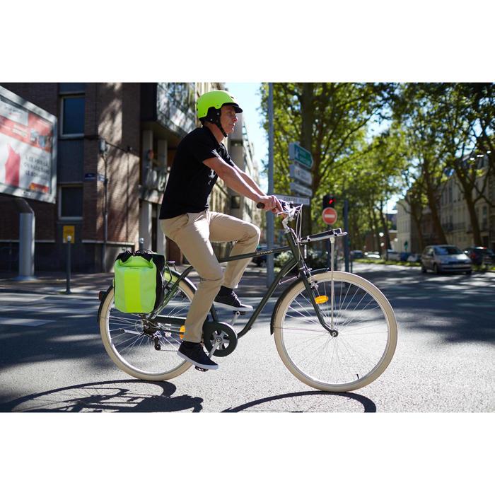 Fahrradtasche 500 für Gepäckträger 20L wasserdicht gelb