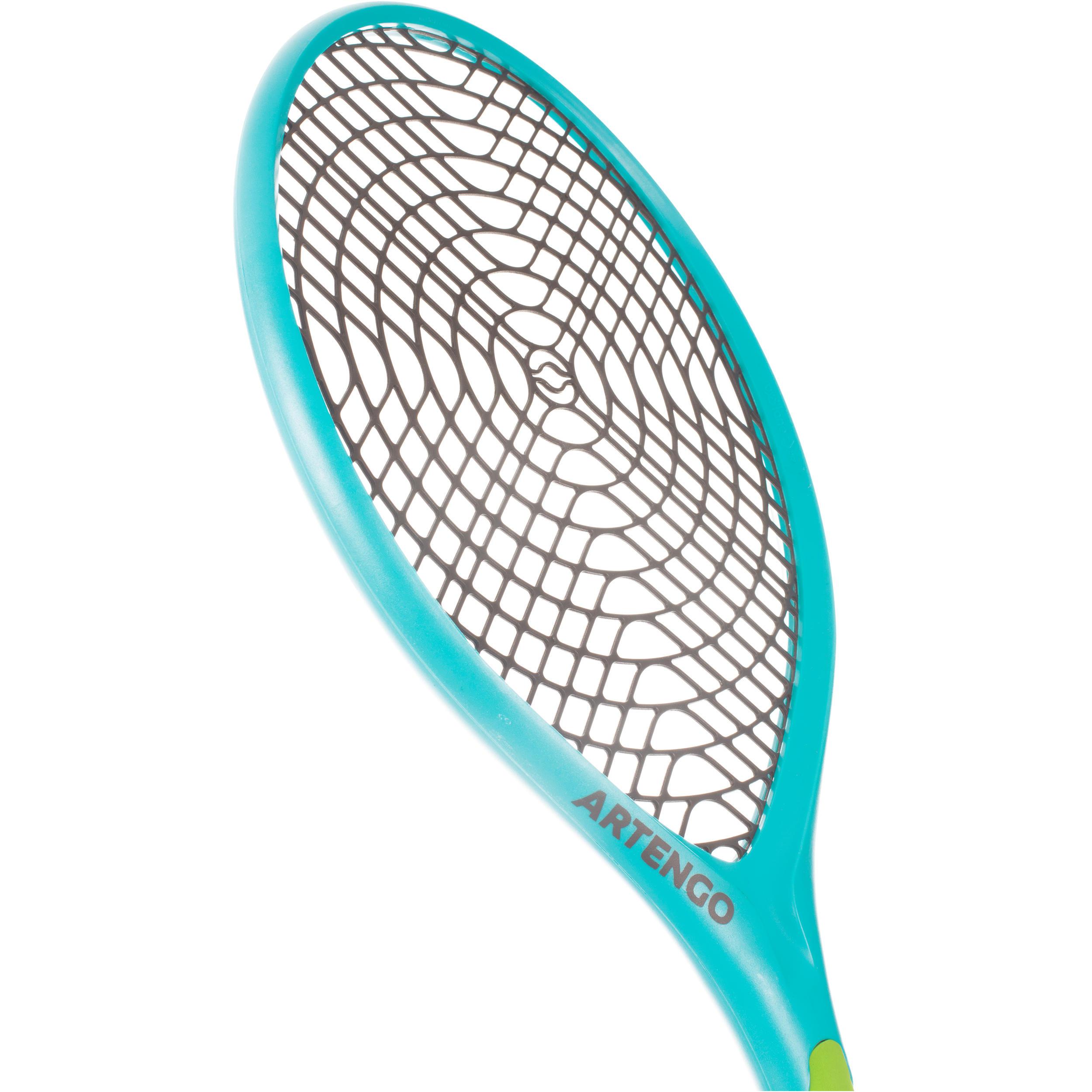 Funyten Plastic Tennis Set of 2 Racquets - Blue/Green