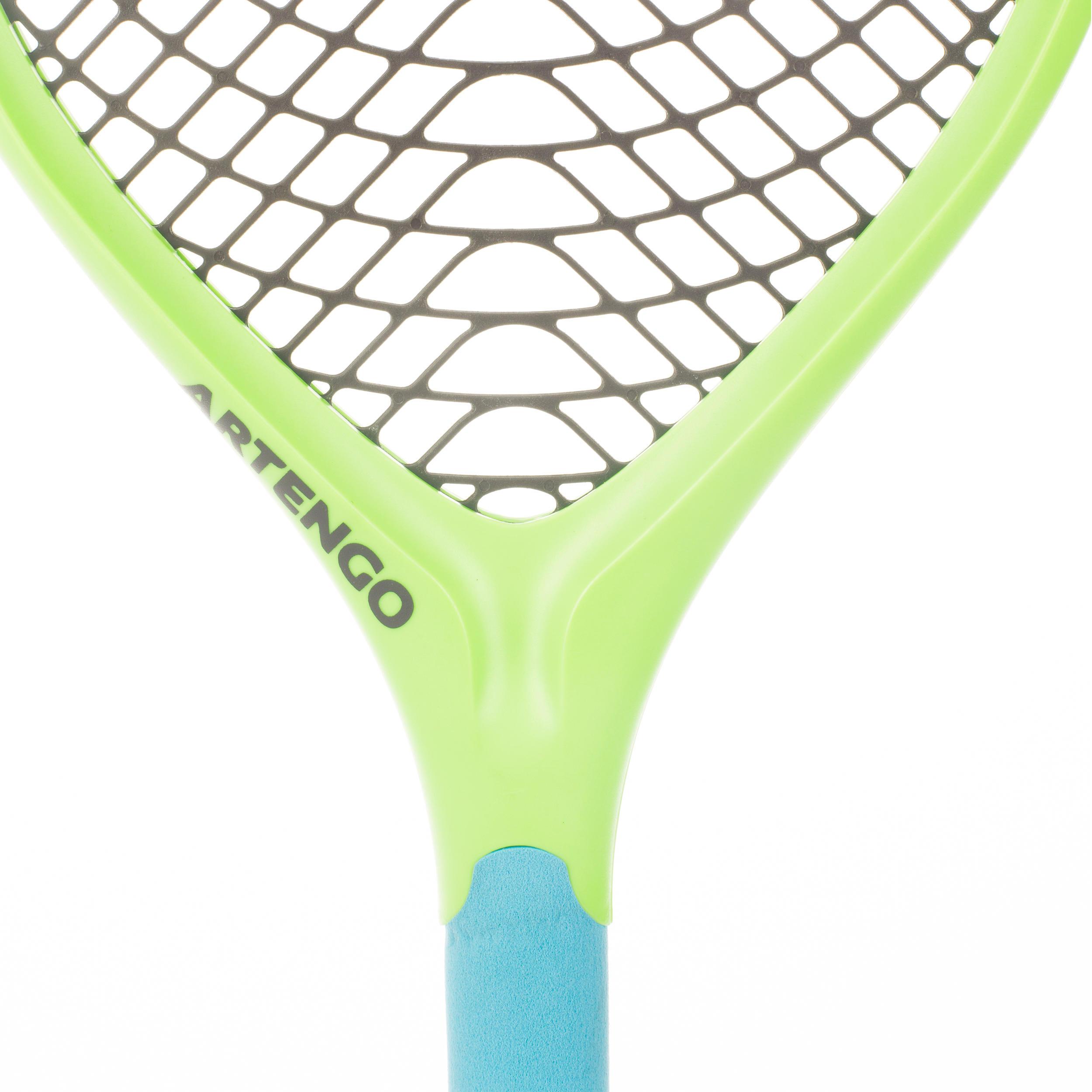 Ensemble de 2 raquettes de tennis en plastique Funyten bleu vert