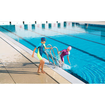 女童連身泳裝Kloupi - 紫色粉紅色