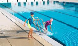 Traje acuático para natación kloupi azul verde