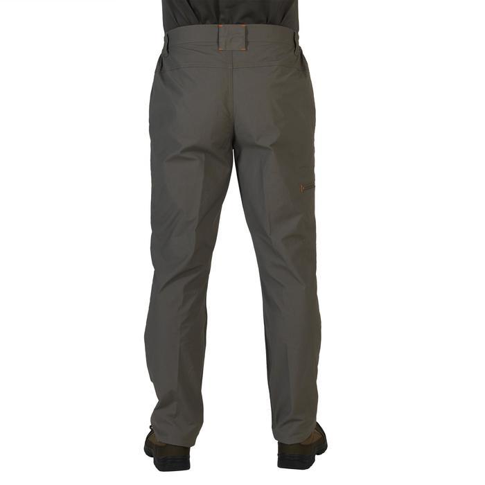 Pantalón de caza 100 verde, ligero y transpirable