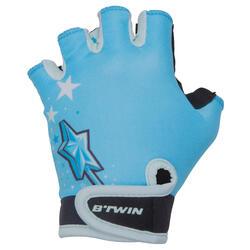 Blue Princess Children's Bike Gloves