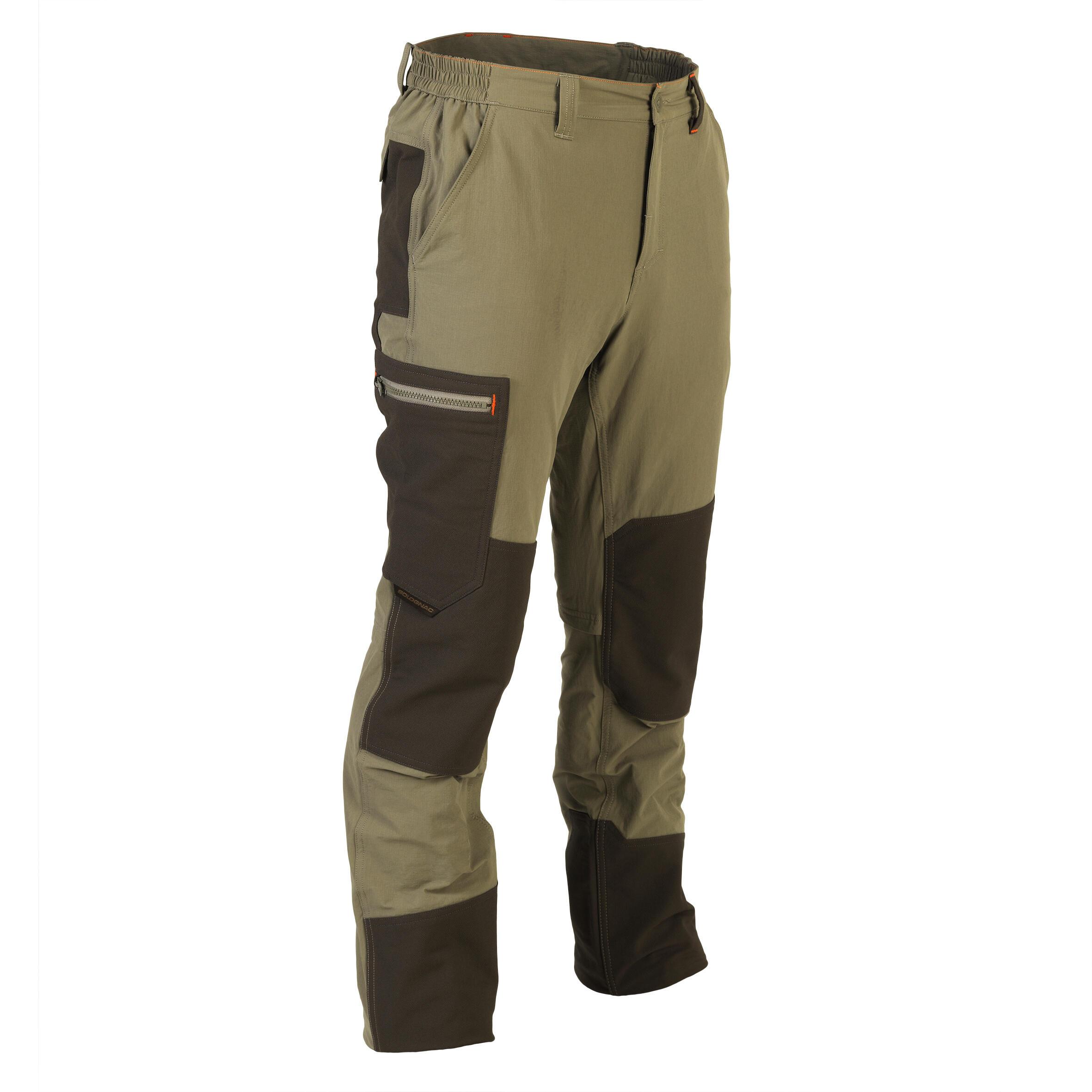 Jagdhose 900 atmungsaktiv und strapazierfähig grün | Sportbekleidung > Sporthosen > Trekkinghosen | Solognac