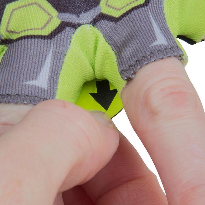 Fietshandschoenen voor kinderen Dark Hero zwart/geel
