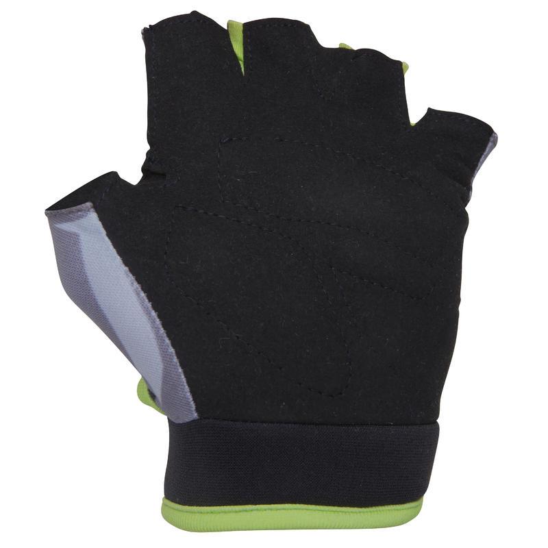 Kids' Fingerless Cycling Gloves - Dark Hero