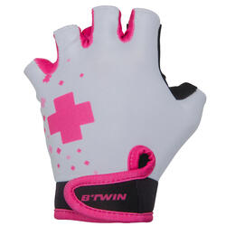 Doctogirl Children's Bike Gloves - White/Pink