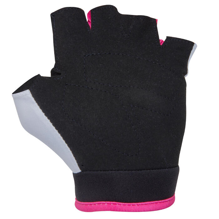 Fahrrad-Handschuhe Doctogirl Kinder weiß/rosa