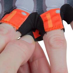 Fahrradhandschuhe Kinder Roboter orange