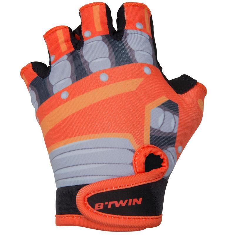 Robot Fingerless Cycling Gloves – Kids