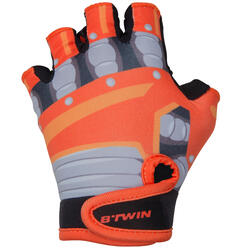 Robot Children's Bike Gloves - Orange