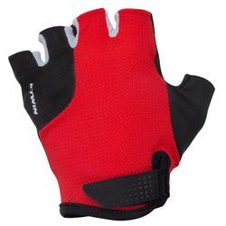 Fahrrad-Handschuhe kurz 500 Kinder rot/schwarz
