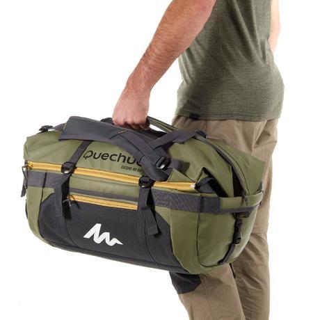 voyage extend 40 to 60 litre trekking bag khaki quechua