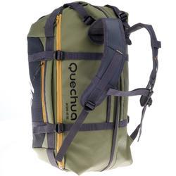 Bolsa de transporte viajes de trekking en montaña extensión de 40 a 60 L Caqui