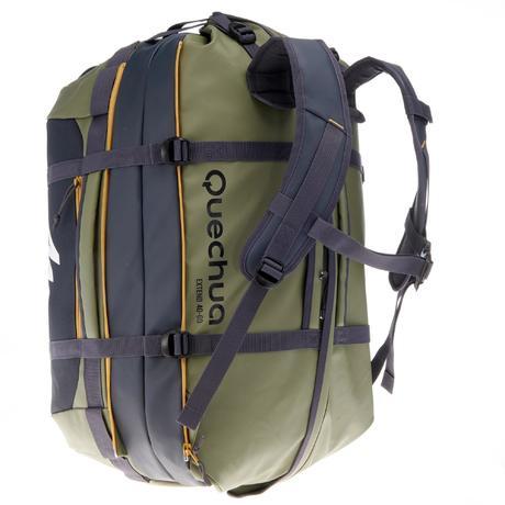 sac de transport trekking voyage extend 40 60 litres kaki quechua. Black Bedroom Furniture Sets. Home Design Ideas
