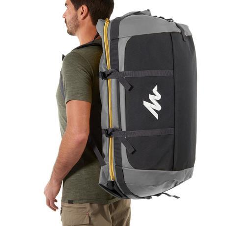 sac de transport trekking voyage extend 80 120 litres gris quechua. Black Bedroom Furniture Sets. Home Design Ideas