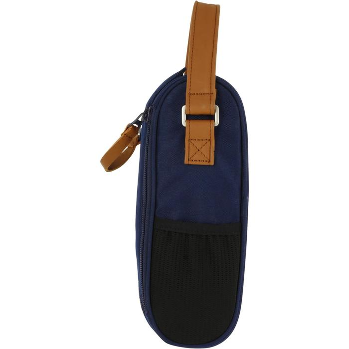 Halfstijf draagtasje voor 3 petanqueballen blauw