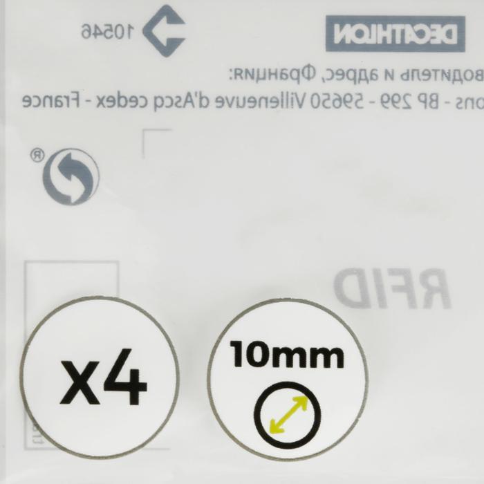 Set van 4 pomeransen diameter 10 mm voor biljartkeu