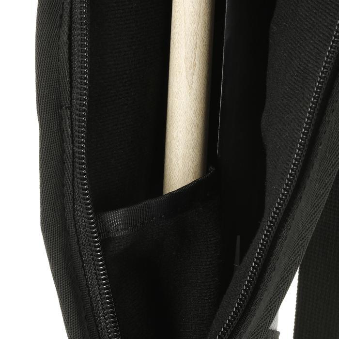 Soepele tas voor biljartkeu zwart/grijs
