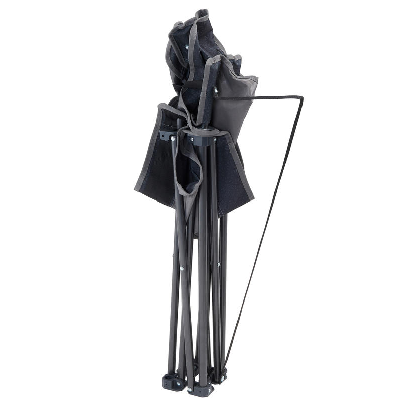 LARGE FOLDING CAMPING CHAIR - GREY