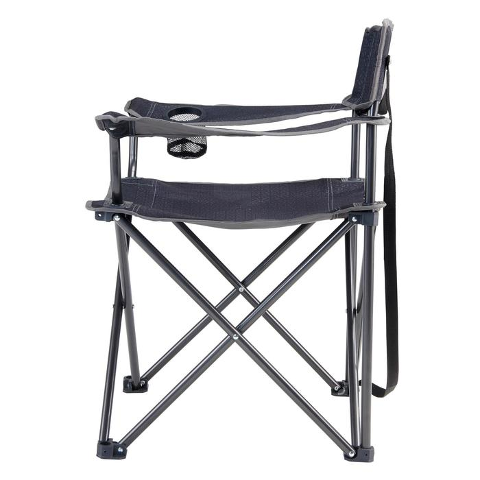 Grote vouwstoel voor de camping grijs