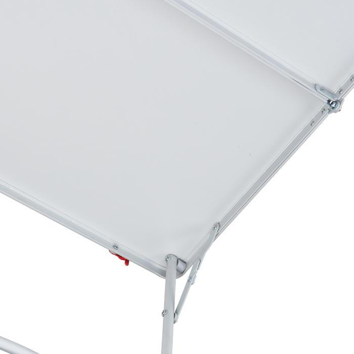 Lage opklapbare kampeertafel blauw