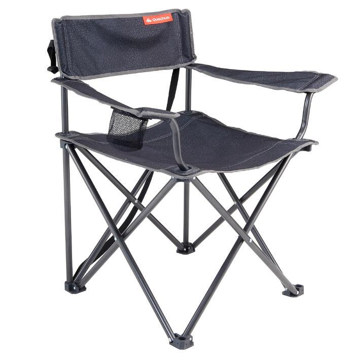 Campingstuhl XL faltbar grau