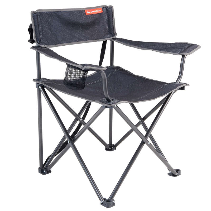 BASE CAMP FURNITURE Camping - XL FOLDING CAMPING CHAIR   QUECHUA - Camping Furniture and Equipment