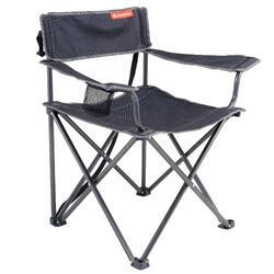 Vouwstoel XL camping grijs