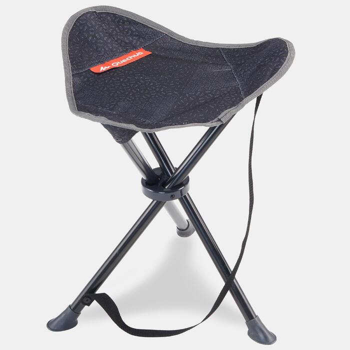Chân ghế gấp cắm trại / leo núi dã ngoại - Xám