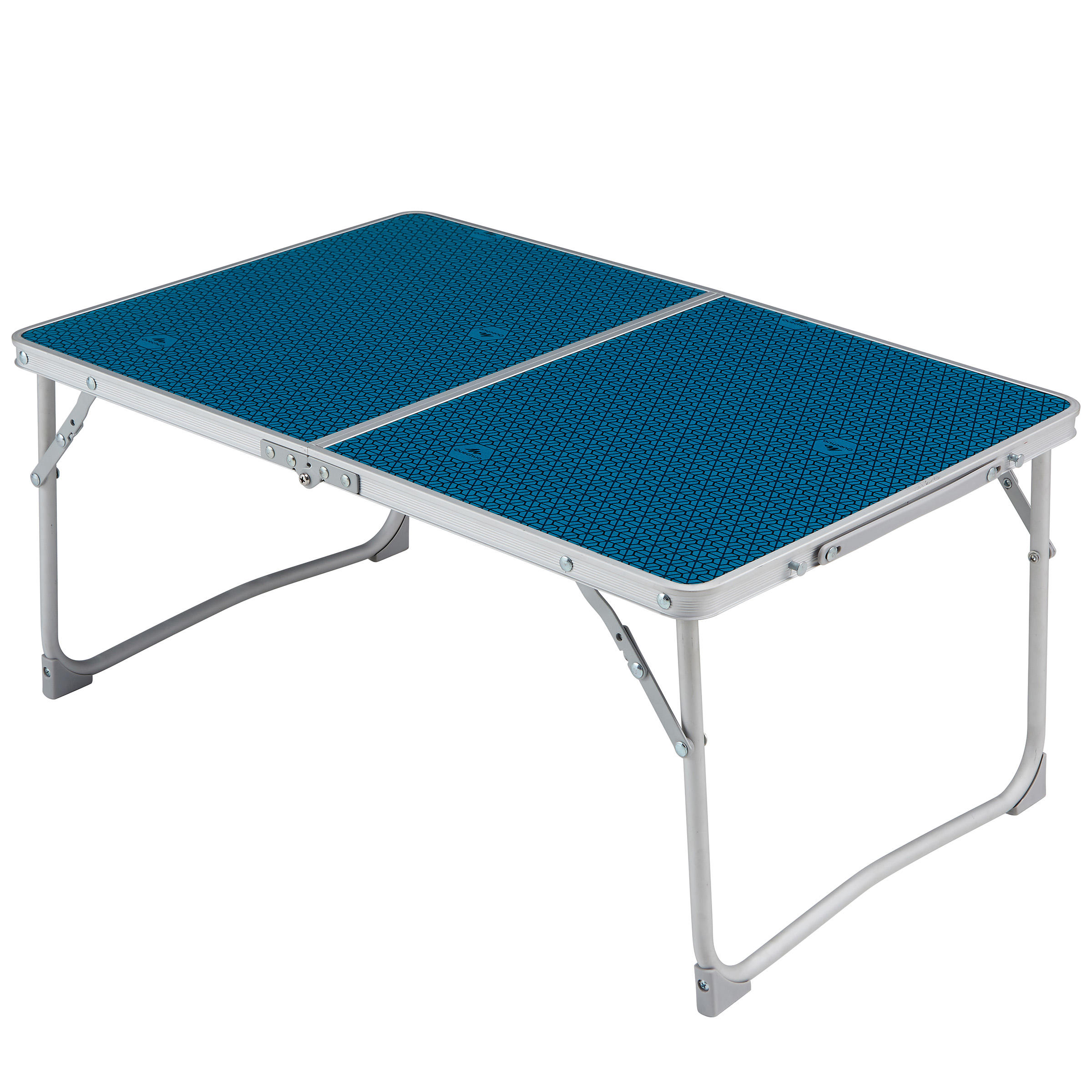 Table Basse Pliante De Camping Mh100 Bleue Quechua Decathlon