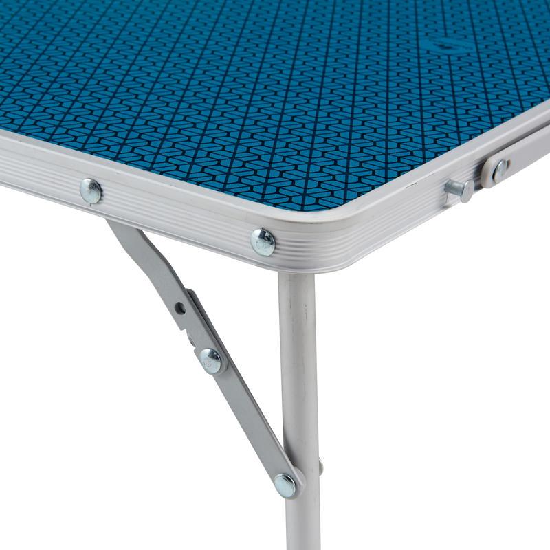 โต๊ะกาแฟพับได้สำหรับตั้งแคมป์รุ่น MH100 (สีฟ้า)