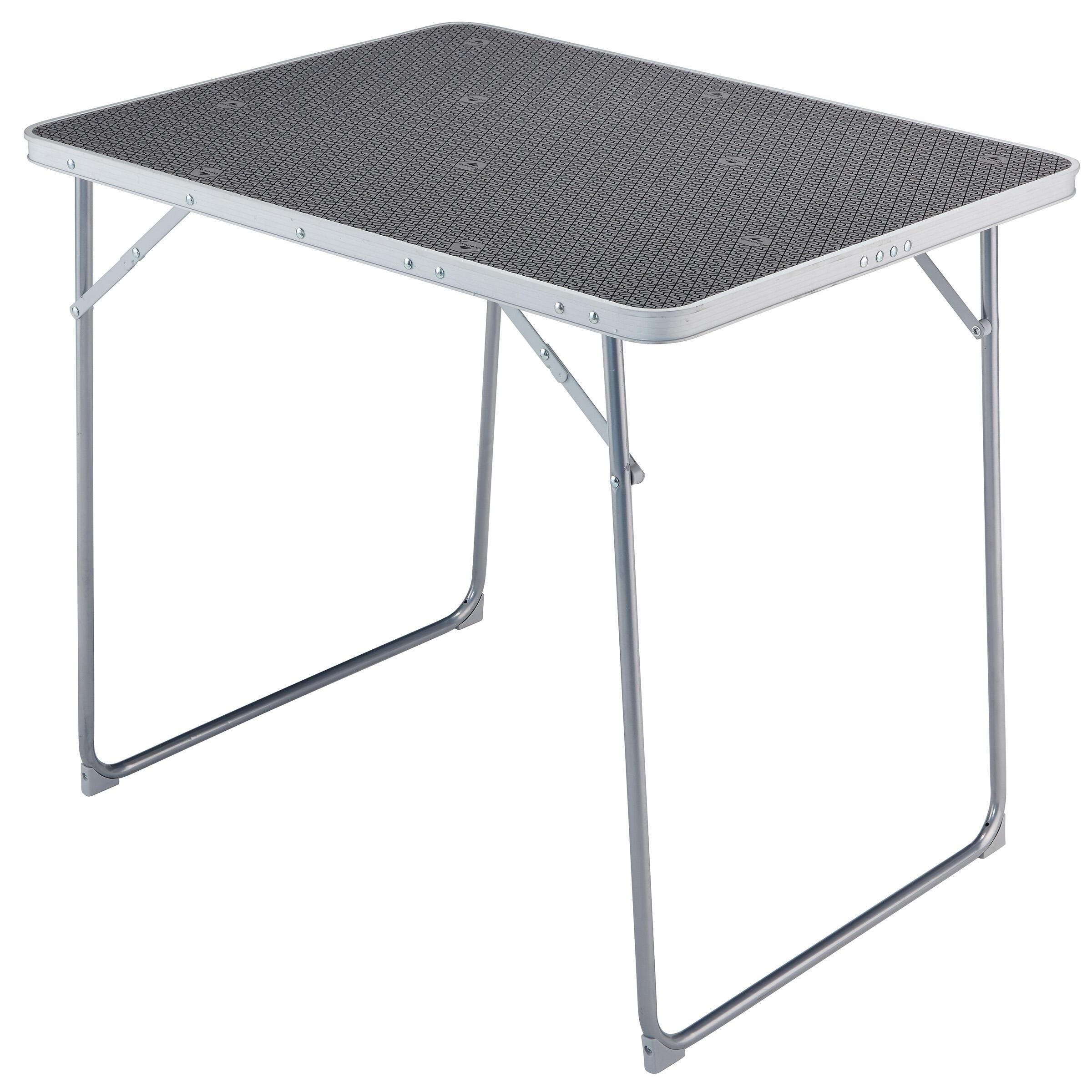 Table de camping/camp du randonneur 4 personnes grise