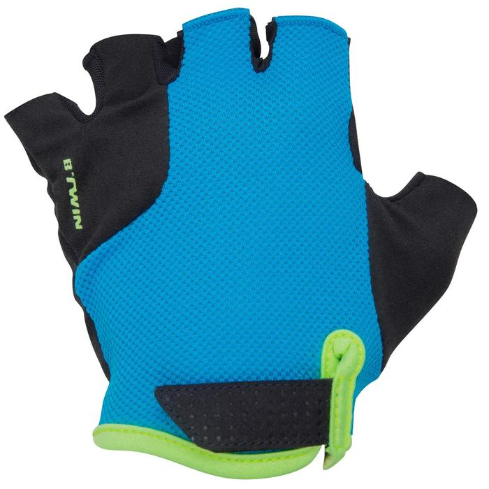 500 Junior Cycling Gloves - Blue - 1116591