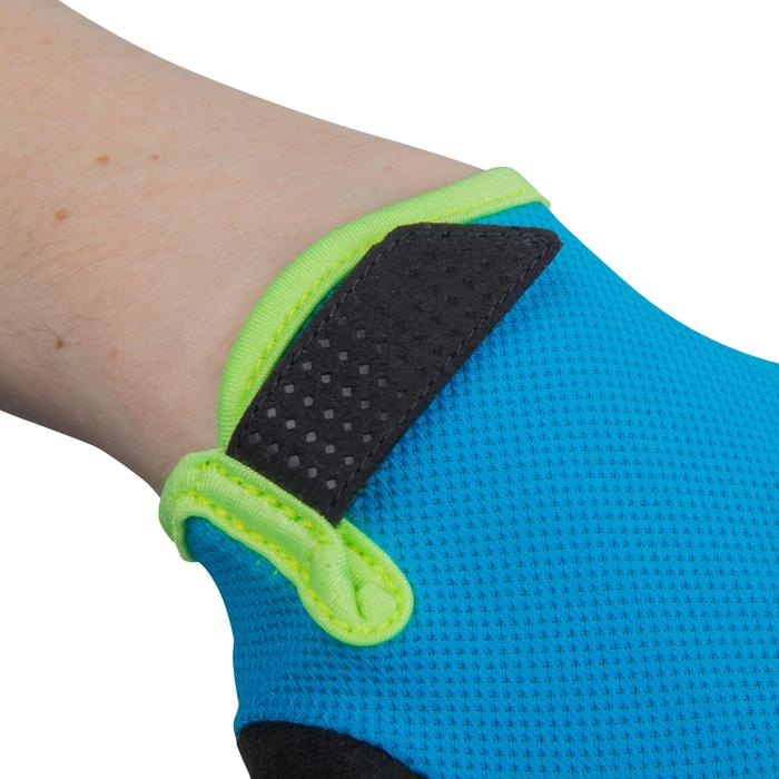 500 Junior Cycling Gloves - Blue - 1116592