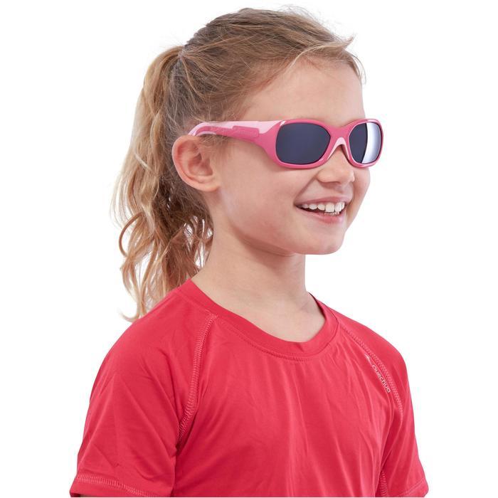 Lunettes de soleil randonnée enfant 3-6 ans KID 500 roses catégorie 4 - 1116606