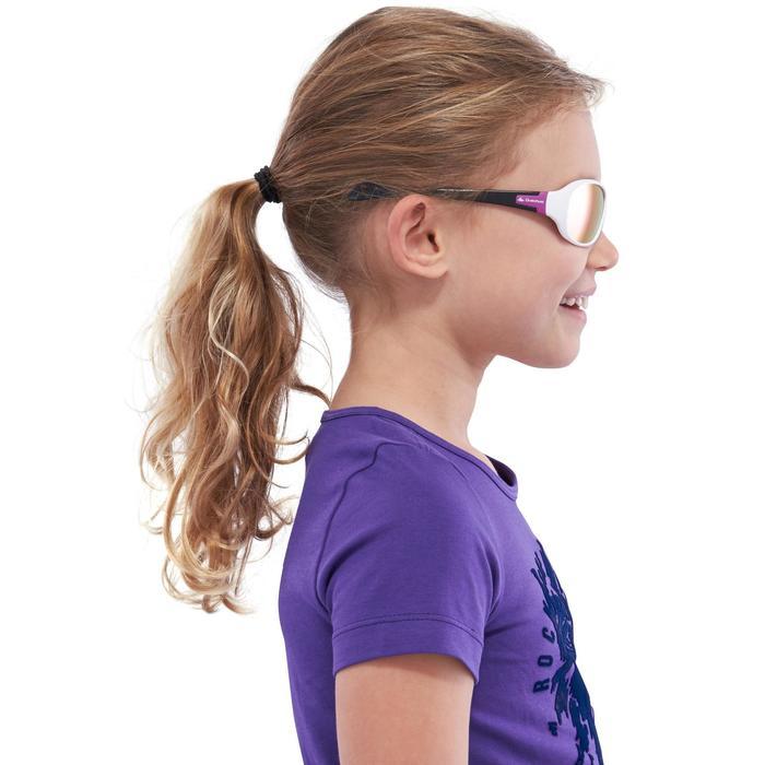 Zonnebril trekking voor kinderen 7-10 jaar MH T 500 wit categorie 4