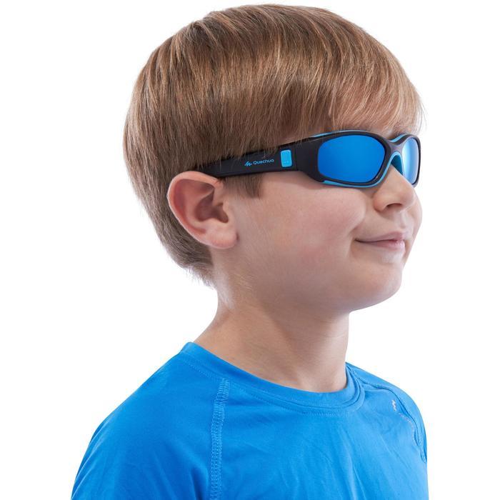 Lunettes de soleil randonnée enfant 4-6 ans KID 700 noires et bleues catégorie 4 - 1116609