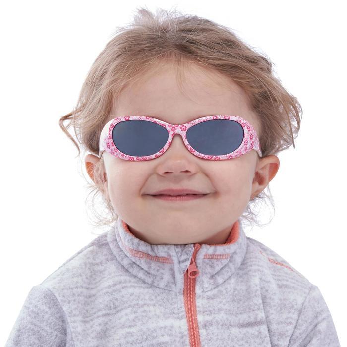 Lunettes de soleil randonnée enfant 2-4 ans KID 300 W fleurs roses catégorie 4 - 1116612