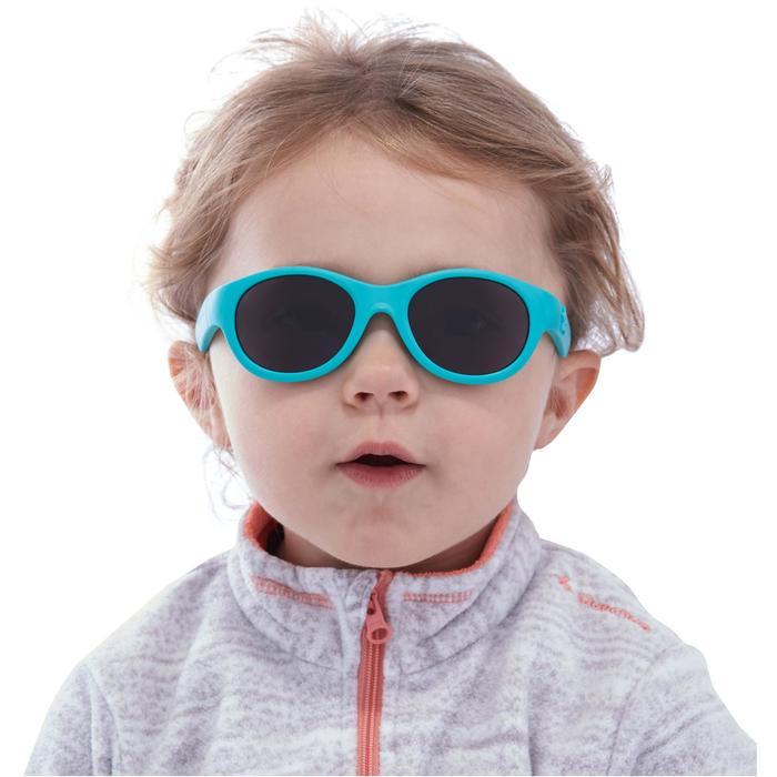 Zonnebril trekking voor kinderen 2-4 jaar MH K 100 turkoois categorie 3