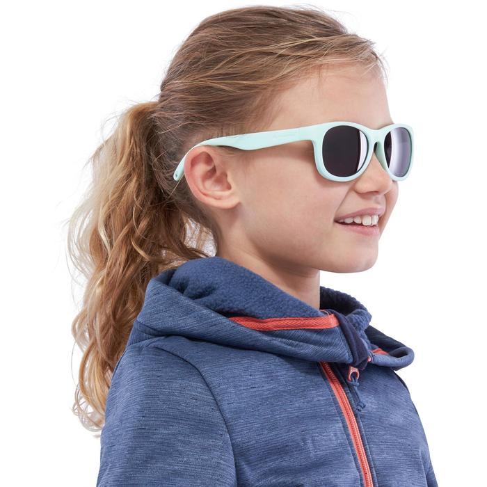 Zonnebril Teen 100 voor trekking, kinderen > 7, muntgroen, categorie 3