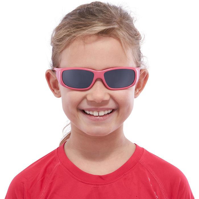 Lunettes de soleil de randonnée enfant 7-9 ans TEEN 300 noires catégorie 4 - 1116644